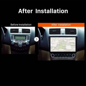 2003 2004 2005 2006-2007 Honda Accord 7 car radio after installation