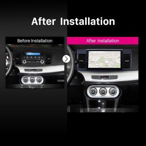 2008 2009 2010 2011 2012-2015 Mitsubishi Lancer-ex car radio after installation