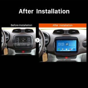 2016 Jeep Renegade car radio after installation