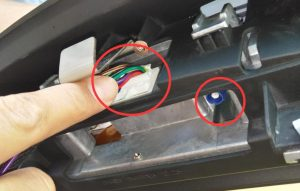 Plug well the Power Harness/ USB Cable/GPS Antenna