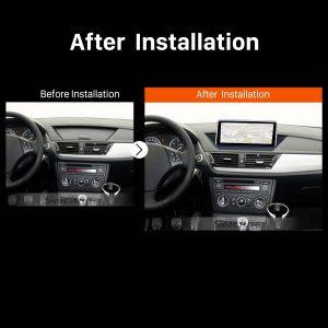 2009-2015 BMW X1 E84 car radio after installation