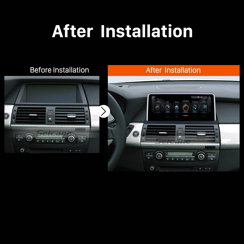 2011 2012 2013 2014 BMW X5 E70 X6 E71 CIC Car Stereo after installation