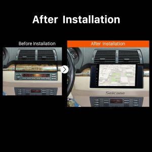 1996 1997 1998 1999-2003 BMW 5 Series E39 520i 523i 525i M5 car radio after installation