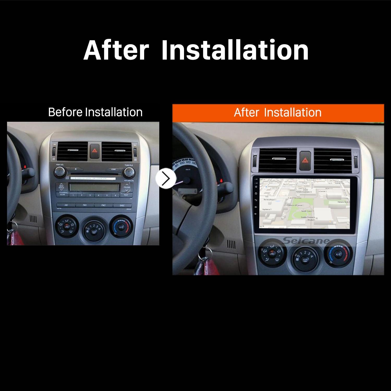 2007 2008 2009 2010 Toyota OLD Corolla GPS Sat Nav Bluetooth Car Radio after installation