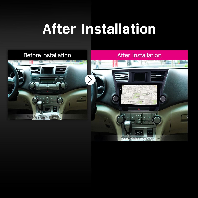 2014 2015 Toyota Highlander car radio after installation