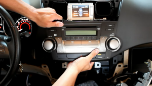 Gently pull the radio out of the dashboard