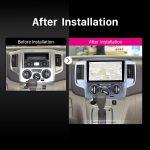 2009 2010 2011 2012-2016 NISSAN NV200 car radio after installation