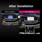 2015 Toyota Highlander Car Radio after installation