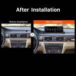 2006 2007 2008 2009-2012 BMW E90 E91 E92 E93 car radio after installation