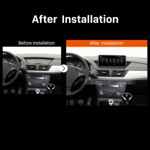 2009 2010 2011 2012-2015 BMW X1 E84 Car Stereo after installation