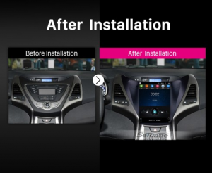 2012 2013 2014 Hyundai Avante Elantra car radio after installation