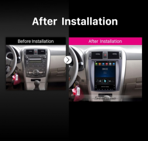 Car Radio Player for 2006-2012 Toyota Corolla after installation
