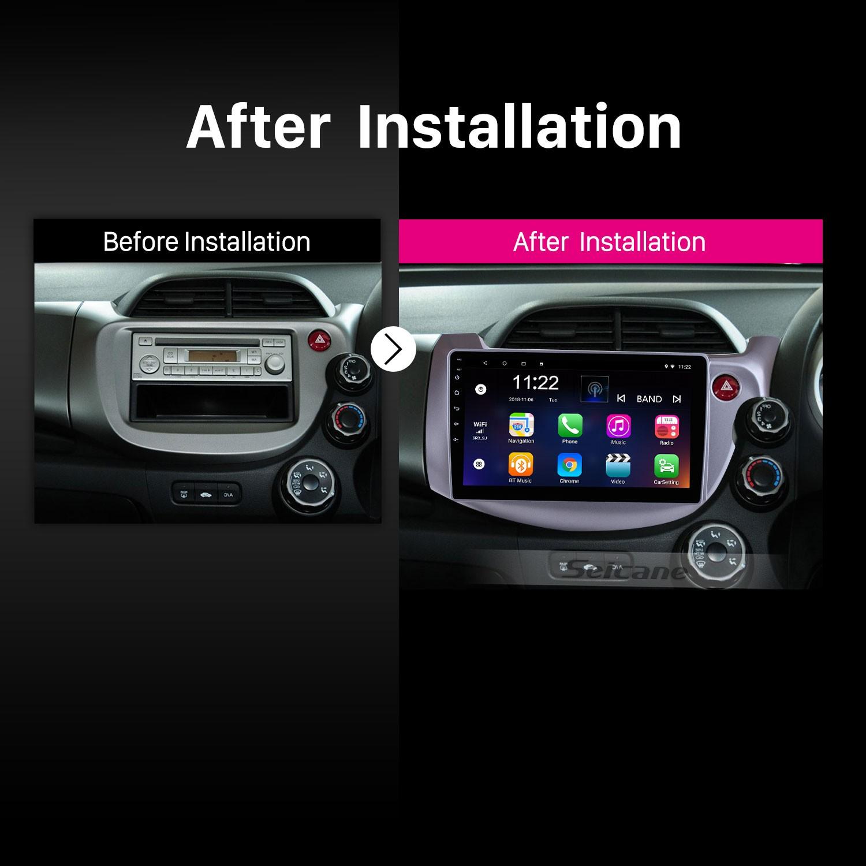 2007-2013 HONDA FIT JAZZ RHD car radio after installation