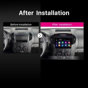 Chevy Chevrolet S10 2015-2018 ISUZU D-Max car radio after installation
