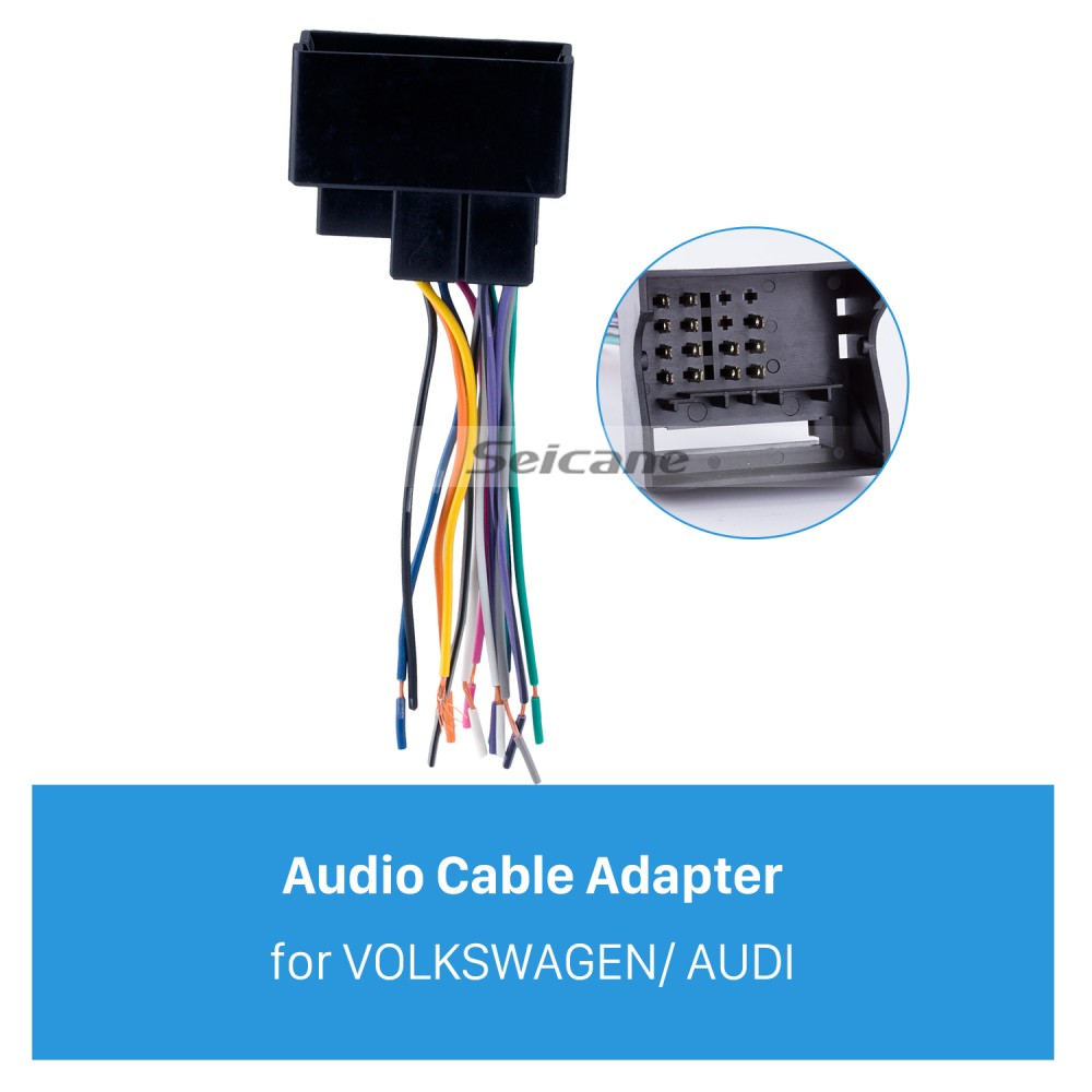 Audio Cable Car Stereo Wiring Harness Plug Adapter for VOLKSWAGEN /AUDI/PASSAT/Sagitar/Candy/Magotan/BMW/Seicane