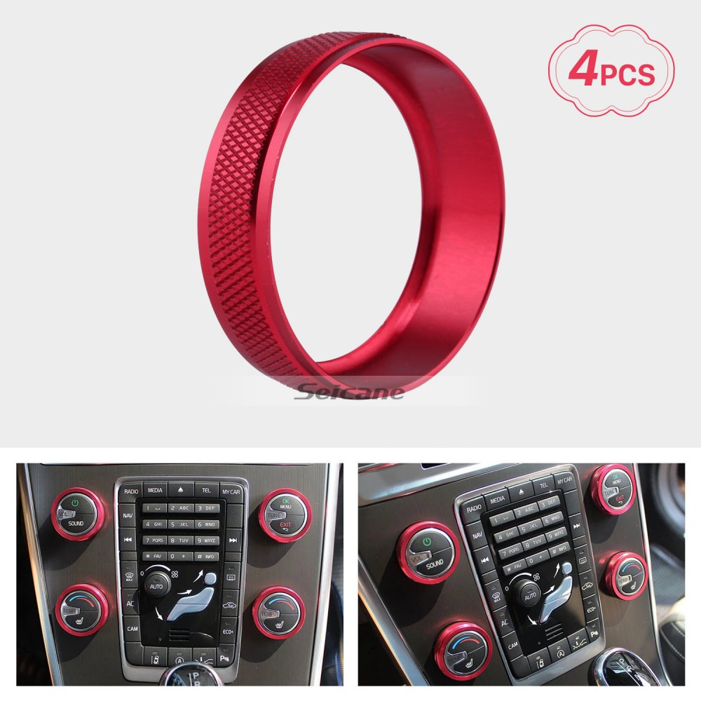 Colorful Air Conditioning Knobs Decoration Kit for 2011-2014