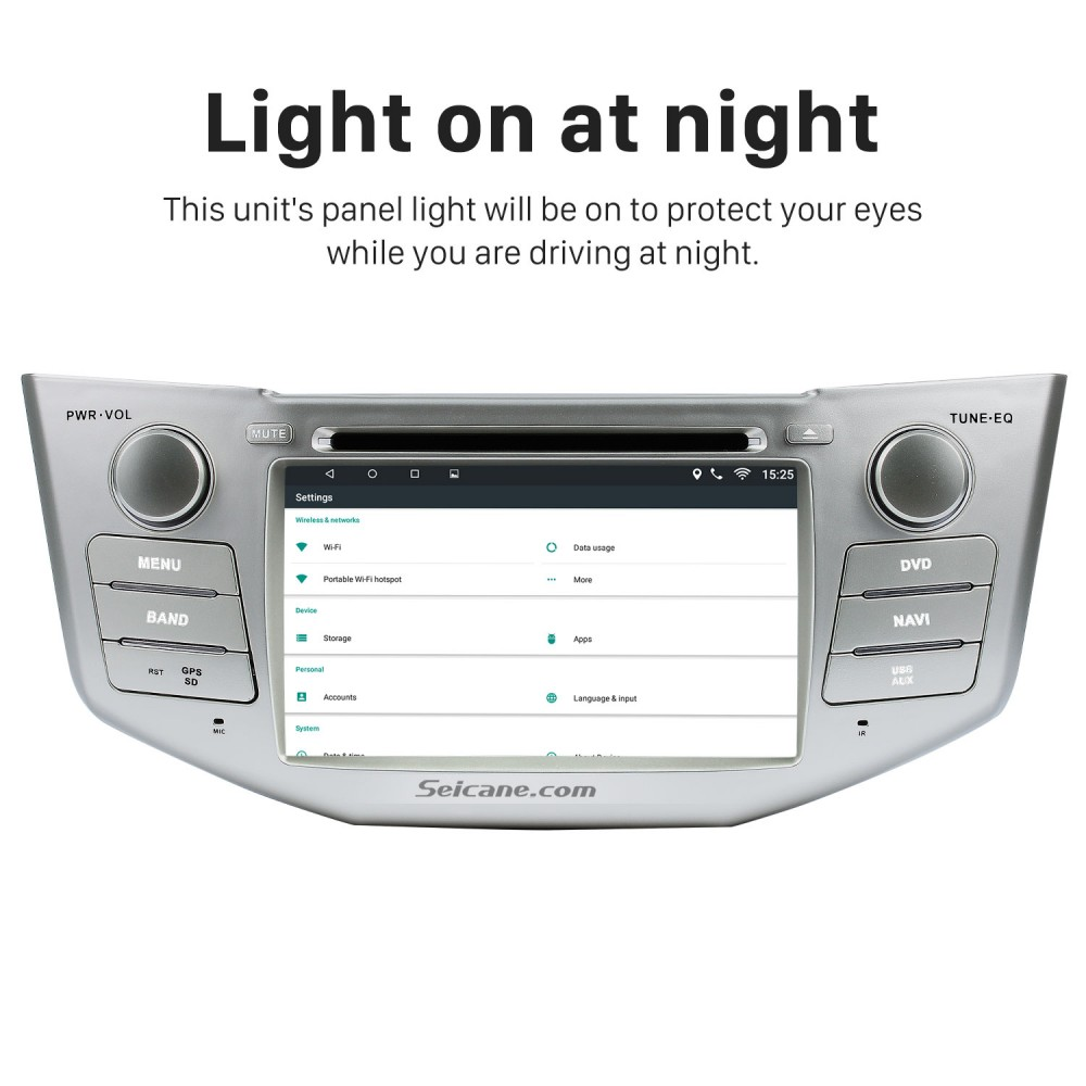 Pure Android 8 0 In Dash DVD GPS System for 2004-2010 Lexus