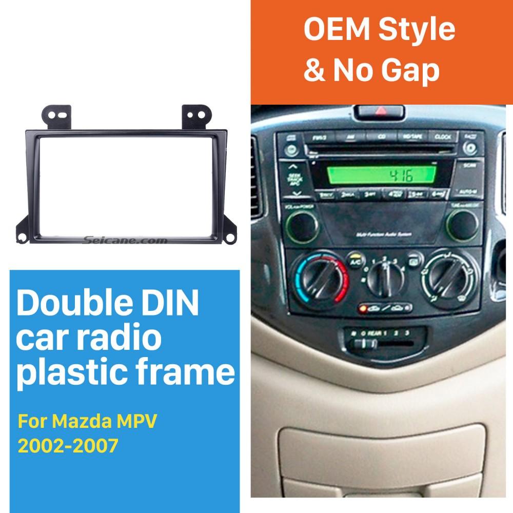 Popular 2Din 2002-2007 Mazda MPV Car Radio Fascia Dash Mount