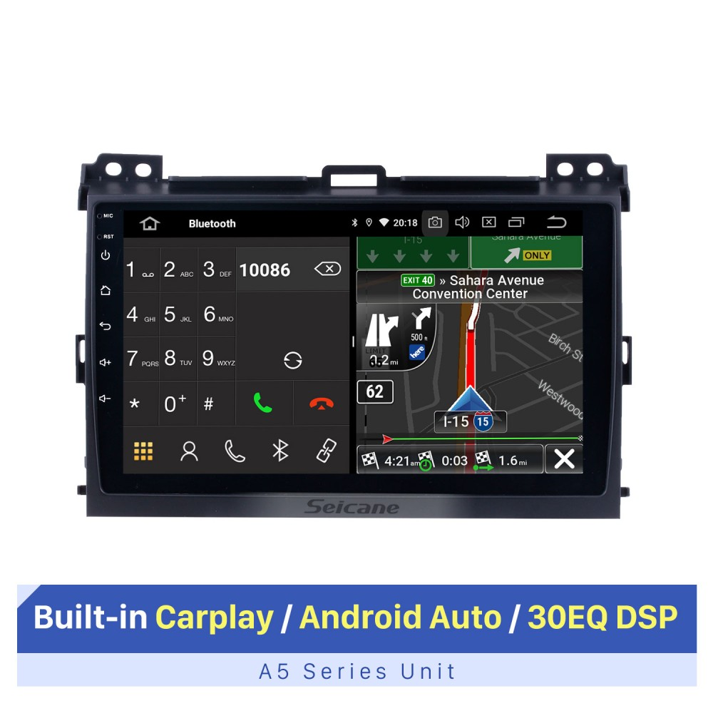 Zaixi Auto Android System 1080p Ips Lcd Screen Für Toyota Prado 120 2002 2009 Auto Radio Player Gps Navigation Bt Wifi Aux