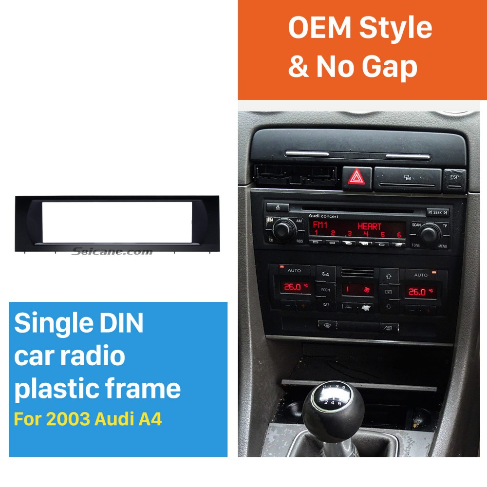 CTKAU01 Double Din Fascia Steering Car Stereo Fitting Kit For Audi A3 2003-2012