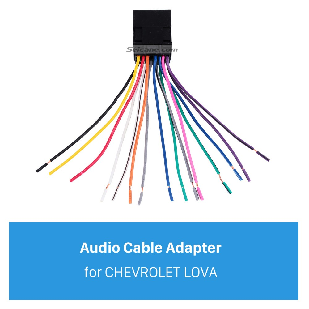 Car Stereo Audio Cable Wiring Harness Plug Adapter for CHEVROLET LOVASeicane