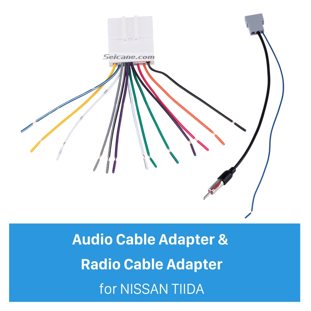 Sound Wiring Harness Audio Cable Adapter And Radio Cable Adapter For Nissan Tiida Sylphy Livina Geniss