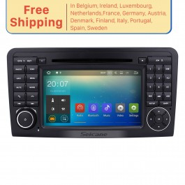 Android 7.1.1 Autoradio Bluetooth GPS navigation system for 2005-2012 Mercedes Benz ML Class W164 ML280 ML300 ML320 with CD DVD Player WiFi Mirror Link OBD2 16G Flash
