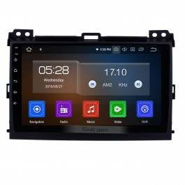 For 2002-2009 Toyota Prado Cruiser 120 Android 10.0 Autoradio DVD Navigation System with 3G WiFi Bluetooth Mirror Link OBD2 Rearview Camera HD 1024*600 Multi-touch Screen