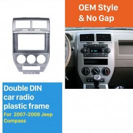 Fascia Black Frame for 7 inch 2007 2008 2009 Jeep Compass Dash Mount Kit Trim Panel