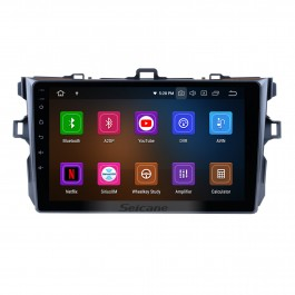 9 inch Android 10.0 GPS navigation system for 2006-2011 Toyota COROLLA with Bluetooth Radio HD 1024*600 touch screen OBD2 DVR TV 1080P Video 3G WIFI  Steering Wheel Control  USB SD backup camera  Quad-core CPU Mirror link