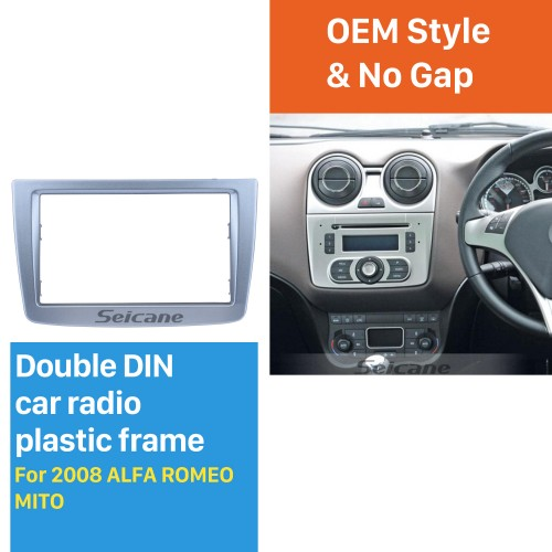 High Quality 2 DIN Car Radio Fascia for 2008 + ALFA ROMEO MITO Dash DVD Player Stereo Surrounding Installation Trim Panel Frame