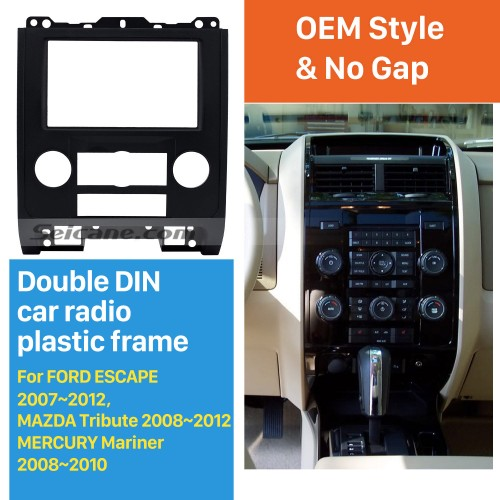 Double Din Car Radio Fascia for 2007-2012 Ford Escape MAZDA Tribute MERCURY Mariner DVD Frame In Dash Mount Kit Trim Panel