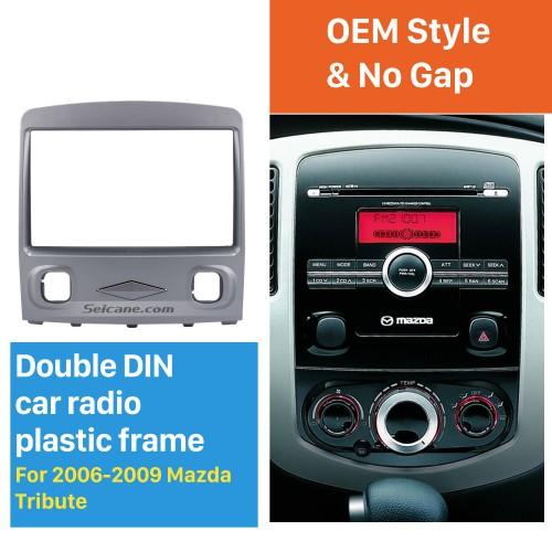 Classic Double Din 2006-2009 Mazda Tribute Car Radio Fascia Dash CD Stereo Interface Trim Panel Frame