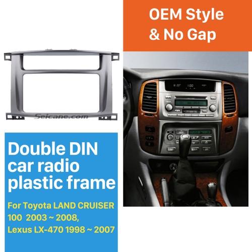 Top 202*102mm Double Din 1998-2008 Toyota LAND CRUISER 100 Lexus LX-470 Car Radio Fascia Surround Panel Trim Bezel DVD Frame