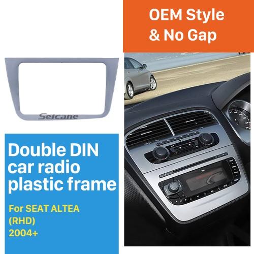 Top Quality Double 2 Din Car Radio Fascia for SEAT ALTEA RHD Stereo Frame Dash Mount DVD Player Trim Panel Installation Kit