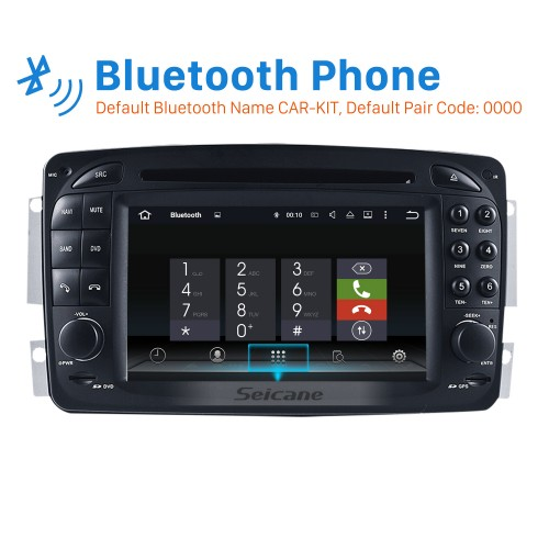 Aftermarket Android 5.1.1 GPS Navigation system for 2000-2005 Mercedes-Benz C-Class W203 with DVD Player Touch Screen Radio WiFi TV IPOD HD 1080P Video Rearview Camera steering wheel control USB SD Bluetooth