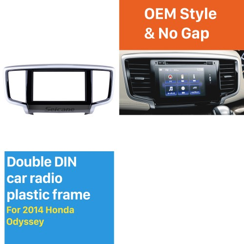 Hot sell 2Din 2014 Honda Odyssey Car Radio Fascia Dashboard Covers Trim Install Frame Auto Stereo