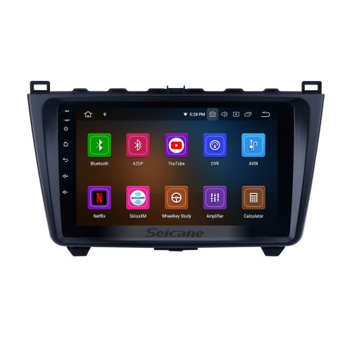 9 inch Android 9.0 Radio GPS Navigation System Auto Stereo for 2008-2015 Mazda 6 Ruiyi with full 1024*600 Touchscreen Bluetooth Mirror link 3G WIFI support TPMS OBD2 DVR Rearview camera Steering Wheel Control