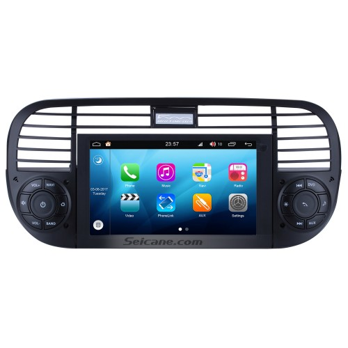 Seicane S09315 Android 4.4.4 GPS Radio DVD player Navigation System for 2007-2013 FIAT 500 with CANBUS OBD2 Bluetooth HD 1024*600 Touch Screen DVR Rearview camera TV Video WIFI Steering Wheel Control USB SD Quad-core CPU Mirror link
