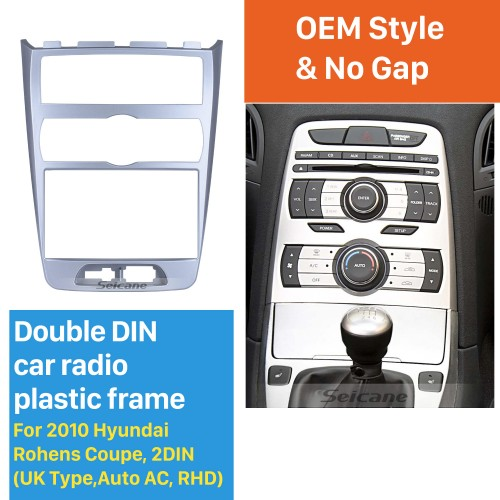 Fabulous 2in 2010 Hyundai Rohens Coupe UK Type Auto AC RHD Car Radio Fascia Dash CD Audio Player Frame Panel