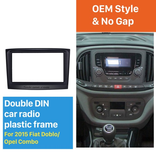 173*98mm 2Din Car Radio Fascia for 2015 Fiat Doblo Opel Combo Dash Mount Audio Cover Car refitting dvd frame