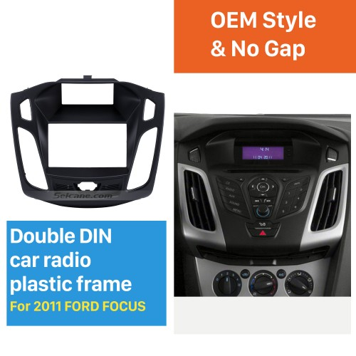 173*98mm Double Din Car Radio Fascia for 2011 2012 2013 Ford Focus Audio Frame Installation Trim Dash Kit Panel Plate