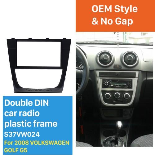Best Double Din 2008 Volkswagen Golf G5 Car Radio Fascia GPS Decorative Frame Auto Stereo Trim Bezel
