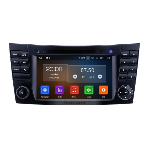 7 inch Mercedes Benz CLK W209 HD Touchscreen Android 9.0 GPS Navigation Radio Bluetooth Carplay USB Music AUX support TPMS DAB+ Mirror Link