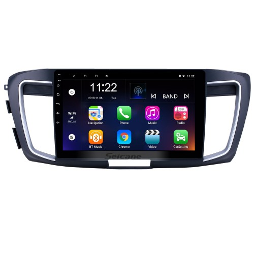 10.1 inch Android 8.1 GPS Navigation Radio for 2013 Honda Accord 9 High version with HD Touchscreen Bluetooth USB support Carplay TPMS