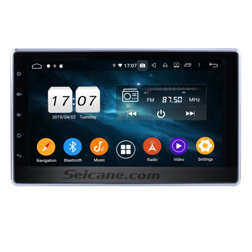 10.1 Inch HD Touchscreen 2 DIN Android 9.0 Universal Radio DVD Player GPS Navigation System Bluetooth Phone Music WIFI Support Digital TV DVR USB Steering Wheel Control Backup Camera