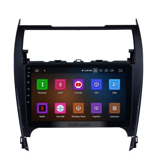 Android 11.0 2012-2017 Toyota Camry 10.1 Inch HD Touchscreen Car Stereo Radio Head Unit GPS Navigation Bluetooth WIFI Support Backup Camera Steering Wheel Control USB DVR
