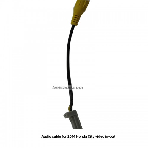 Auto Car Video in-out Plug Adapter Audio Cable for 2014 Honda City