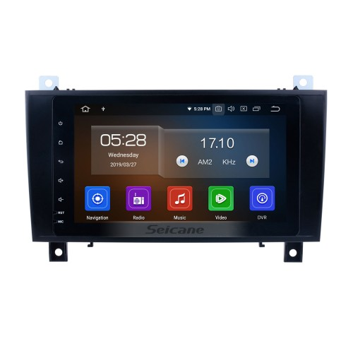Android 9.0 Car Radio GPS navigation system for 2000-2011 Mercedes Benz SLK class R171 SLK200 SLK280 SLK300 with Bluetooth Touch Screen Mirror link USB WIFI support HD 1080P Video Steering Wheel control