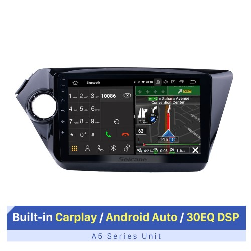 For 2011 2012 2013 2014 2015 Kia K2 RIO 9 inch Android 10.0 Car GPS Navigation System HD Touchscreen Radio AM FM Bluetooth support CD DVD Player OBD2 3G WiFi